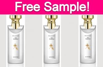 Free Sample by Mail of Bulgari Perfume!