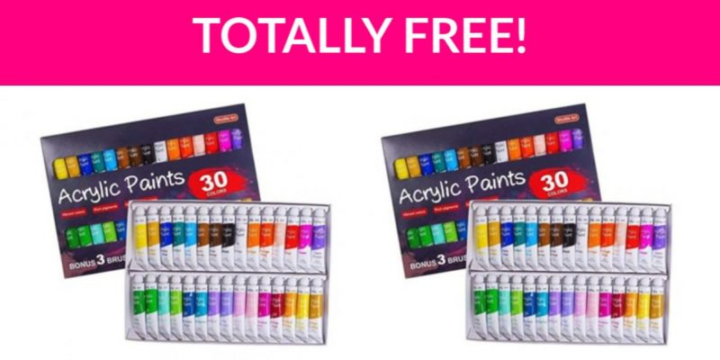 Free Acrylic Paint Set!