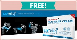 FREE Sample By Mail of Livrelief Pain Relief Cream !