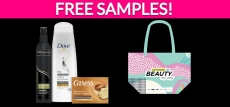 Free Beauty Bag with Free Samples!