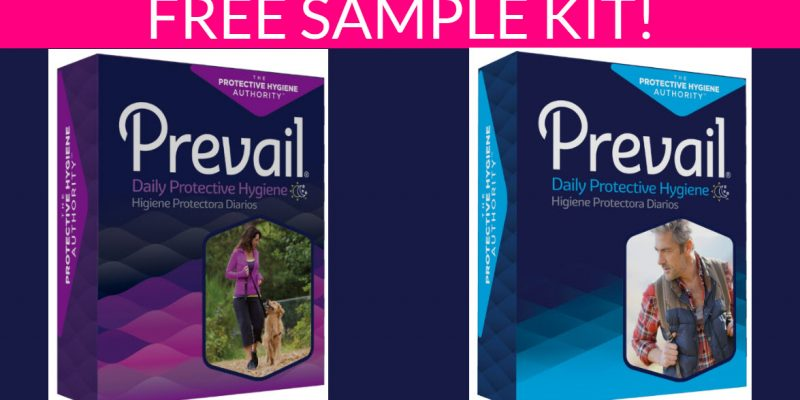 Free Prevail Incontinence Product Sample Kit!