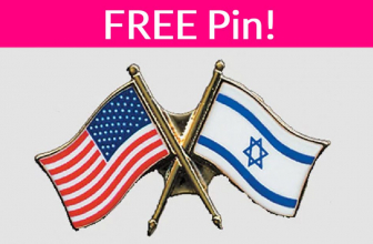SUPER EASY! FREE U.S. – Israel Flag Pin by mail!