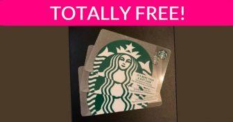 Totally FREE $5.00 Starbucks Gift Card!