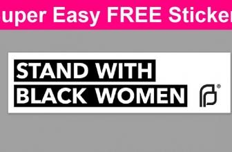 Totally FREE Sticker! So Easy!