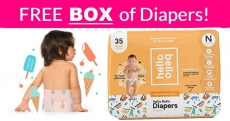 WOW! Get a FREE BOX of HelloBello Diapers!