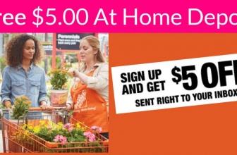 RARE – FREE $5.00 at Home Depot!