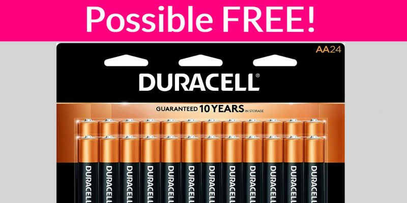 FREE AA or AAA Duracell Batteries !