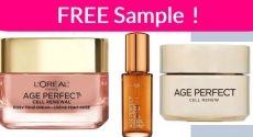 Possible FREE L'Oreal Paris Age Perfect Sample By Mail!