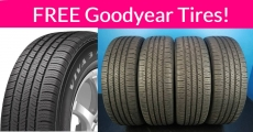 WHOA! 4 NEW Goodyear Tires for FREE!