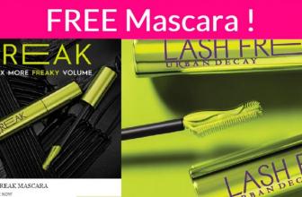 RUN! Totally FREE Urban Decay's NEW Lash Freak Volumizing Mascara!