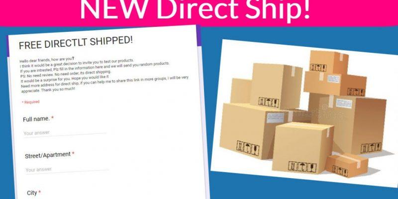 NEW ! Direct Ship Form! RUN!