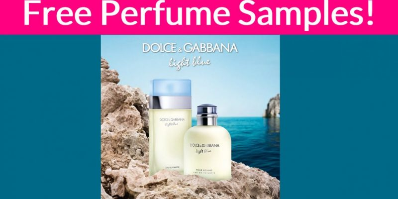 SUPER Easy! Free Dolce&Gabbana Perfume Samples BY MAIL!