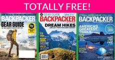 FREE Backpacker Magazine! 1 year subscription!