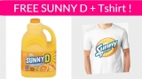 Free Sunny D and T-Shirt ! Super Easy Freebie!