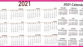 Totally FREE 2021 GOLDSTEIN'S CALENDAR!