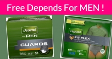 Men's Depends Free Sample By Mail!