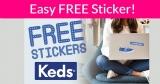 Free Keds Stickers !