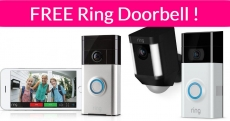 It's Back! Free Ring Doorbell and Accessories!