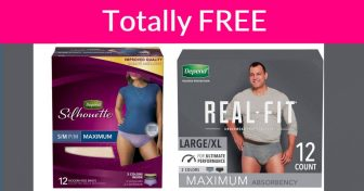 EASY Freebie – Everyone Will Get It! Free Depends !