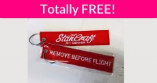 Totally FREE Flight Key Chain
