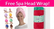 Free Spa Hair Wrap!