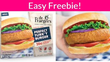 Totally FREE Plant-Based Turk'y Burger! Yummy!