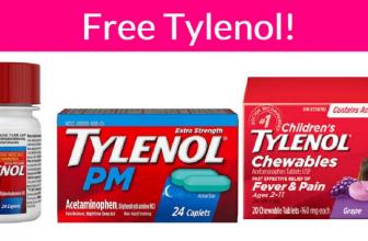 Totally FREE Children's Tylenol & Tylenol PM!