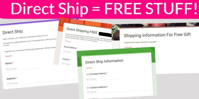 4 NEW Direct Ship Forms! FREE STUFF!