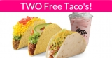 2 FREE Taco's At Del Taco! No Purchase needed.