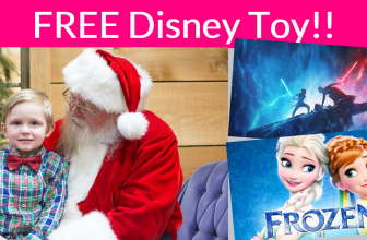 FREE Picture with Santa + FREE Star Wars or Frozen TOY! TODAY ONLY!