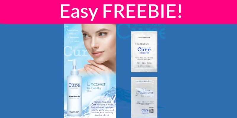 FREE Sample By Mail CURE NATURAL AQUA GEL