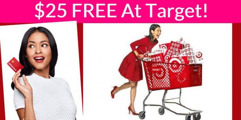 RARE! $25 Off $25 At Target! FREE Stuff at Target!