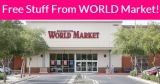 Free Stuff From World Market! SUPER Easy!