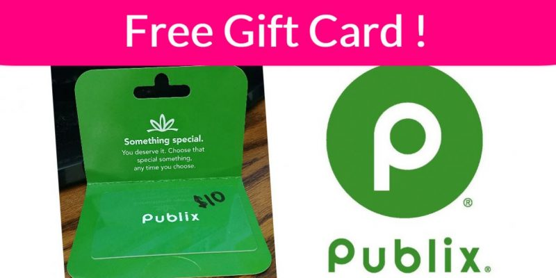Free $10 Publix Gift Card!