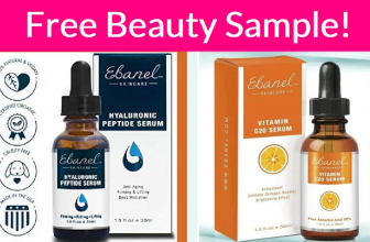 Totally FREE Ebanel Skincare Sample By Mail! HOT!