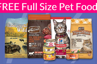 FREE Full Size bag of Dog Food or Cat Food!