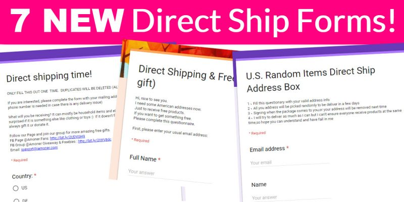 7 New Direct Ship Forms!