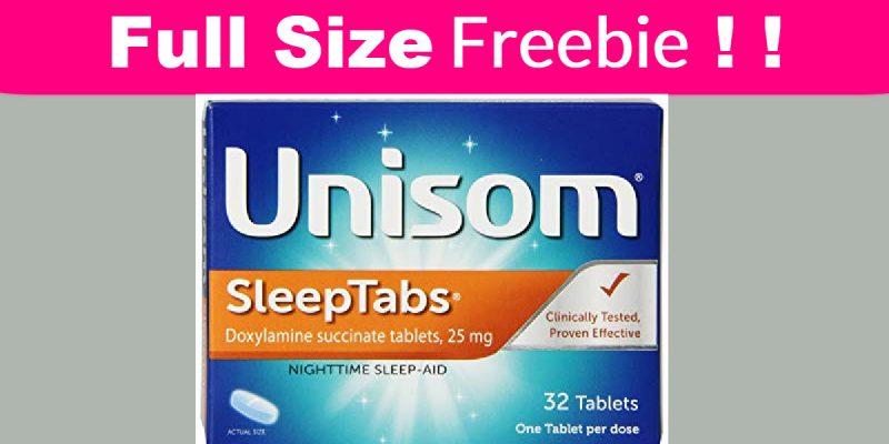 FULL Size Freebie = Unisom Sleep Aide !