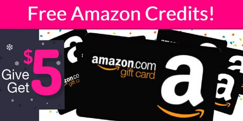 FREE $5 Amazon Credit! { AND More Free Credits! }