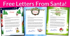 Free Letters from Santa !