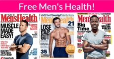 Totally FREE 1 Year Subscription of Men's health Magazine!