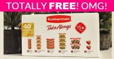 FREE Rubbermaid 40-Piece Food Storage ! RUN!