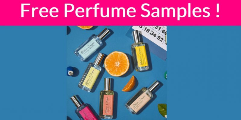 WOW! Get 2 FREE perfume samples by mail!