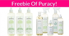 Free = FULL SIZE = Freebie of  Puracy Products!