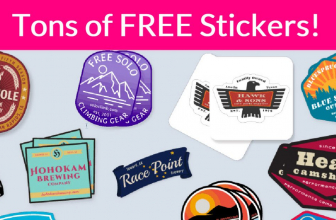 TONS of FREE Stickers! So Fun. 1 form, Easy Freebie!