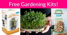 FREE Gardening Kits By Mail!