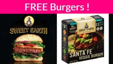 FREE Sweet Earth Burgers! Easy! ONLY for the 1st 10,000 !