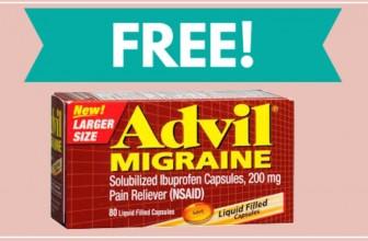 WOW! TOTALLY FREE FULL SIZE bottle Advil Migraine!