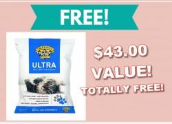 TOTALLY FREE Full Size Bag of Kitty Litter  – $43 Value!