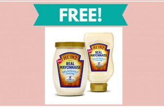 FREE – FREE – FREE Full Size Bottle Of Heinz Real Mayonnaise!
